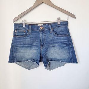 J Crew denim shorts raw hem 27